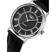 Men's Fashion Casual Genuine Leather Quartz Watches