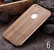 Luxury Metal Frame Wood Back Combo Phone Case for iPhone 6/6S (Assorted Colors)