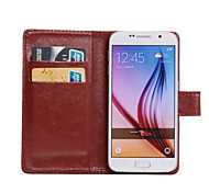 For Samsung Galaxy Case Card Holder / with Stand / Flip / 360° Rotation Case Full Body Case Solid Color PU Leather SamsungS Advance /