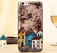 The New European-Style Building Steeple House Relief Environmental TPU Material Touch Phone Case for iPhone 6/ 6S