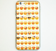 Lovely Face Pattern Ultra Thin Soft TPU Back Cover Case for iPhone6/6S