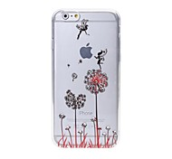 Latest  Dandelion Pattern Diamond High Quality Laser Relief Touch Phone Case for iPhone 6/ 6S