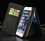 Luxury Multifunction Split Zipper Wallet Card Cell Phone Case for iPhone 6s 6 Plus