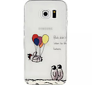 Penguin Balloon Pattern TPU Soft Case for Samsung Galaxy S6/S6 Edge