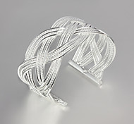 "Fashion Noble BIG 925 Sterling Silver ""Mesh""Bangles Party Daily Bangles For Woman&Lady"
