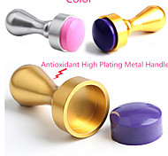 1Pcs Nail Art Printing Tools Metal Nail Seal Gold Silver Stamp Seals