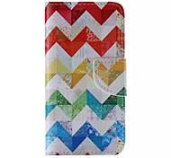 Farbstreifen-Muster Handy Leder für iphone 6 / 6S