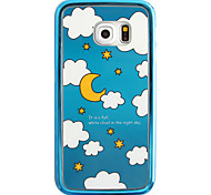 Cartoon Star Pattern Plating TPU Phone Case for iPhone Galaxy S6 edge Plus/S6 edge/S6
