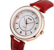 Skmei® Women Fashion Quartz Leather Strap Wrist Watch 30m Waterproof Assorted Colors Cool Watches Unique Watches