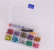 100Pcs car mini Blade Fuse Kit 3A 4A 5A 7.5A 10A 15A 20A 25A 30A 35A with Electrical Tester Electroprobe Fuse