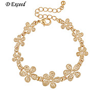 D Exceed Women Bracelets Gold Fashion Flower Design  Bracelet Free Shipping