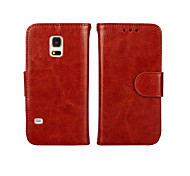 Crazy Horse Pattern Double Folding Card Holder Leather  for Samsung Galaxy S4/S5/S6/S5Mini/S3/S6edge(Assorted Colors)