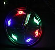 Luzes de Bicicleta , Luzes da cauda - 2 Modo other Lumens Fácil de transportar / Cores em mudança CR2032 x 1 Bateria Ciclismo/Moto Branco