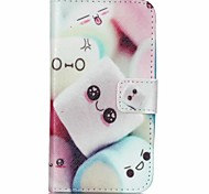 Smiling Bread Painted PU Phone Case for Galaxy J1 Ace/J2/J1