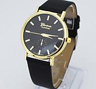 cinto de couro marca de alto grau ouro requintado relógio de quartzo casal