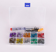 100Pcs car Blade small Fuse Kit 2A 3A 5A 7.5A 10A 15A 20A 25A 30A 35A with Electrical Tester Electroprobe
