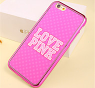 pink love pattern plating tpu Telefonkasten für iphone 6 / 6S