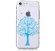 дерево рисунок волны скольжения ручка ТПУ мягкой случай телефона для iPhone 5с