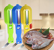 To Cover And Scale Device With Stainless Steel Kitchen Knife Knife Scraping Scales(Random Color)