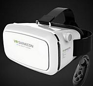 vr montagem virtuais óculos 3d realidade headset óculo cabeça fenda 3d por telefone 3,5-6,0 polegadas + controle remoto Bluetooth