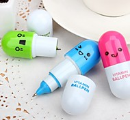 (1 PCS) High Quality Creative Fashion Telescopic Pill Ball-Point Pen (Color Random Delivery)
