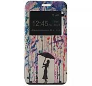 o novo aleta chuva pigmento Cartão de teste padrão pu material de couro caso de telefone janela para Samsung Galaxy J1 / j1ace / j2 / J5