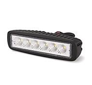 "1*18W 6"" 6 White Epistar LED 6500K Off Road Work Flood Light Lamp Bar Car"