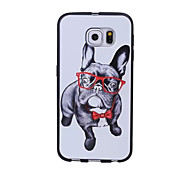 Special Design New Tide Faction Bulldog Super-soft Leather Material Phone Case for Samsung Galaxy S6 edge