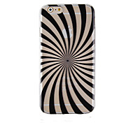 For iPhone 6 Case / iPhone 6 Plus Case Transparent / Pattern Case Back Cover Case Lines / Waves Hard PCiPhone 6s Plus/6 Plus / iPhone