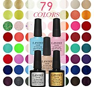 Choose 3 Piece LANDLE Soak Off UV Nail Gel Polish 79 Color Gel LED Manicure Gel