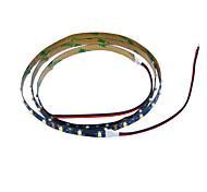 Jiawen 100cm 4W 60x3528smd blanc lumière blanche / chaude a mené la lampe de bande pour la voiture et le cabinet (12V DC)