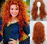 European and American Fashion High Temperature Orange Color Curly Wig