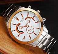 Men's Watch The Distinguished Domineering Gold Shell Instrument Disc Business Watch