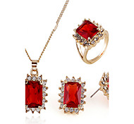 May Polly  The new micro ring inlaid CZ Necklace Earrings Set