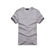 Fulang Men Summer  Pure Cotton T-shirt Stand Collar V collar Short Sleeve SC30