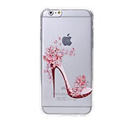 High Heeled Shoes Pattern Diamond High Quality Laser Relief Touch Phone Case for iPhone 6plus / 6S plus