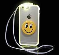 chamando sentido flash LED ficar material de TPU acrílico 2 em caso da tampa 1 volta para 6s iphone plus / 6 mais