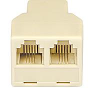 shengwei® rs-112 rj11 1 puerto macho a 2 adaptador de conexión de puerto hembra por teléfono