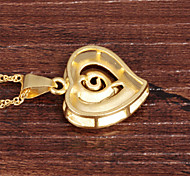Heart Rose Ms Vacuum Plating 18 K Gold Don't Rub Necklace