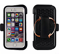 "Three Proofing Waist Clip Outdoor Waterproof PC+Silica Gel Back Cover for iPhone 6/6S 4.7""(Assorted Color)"