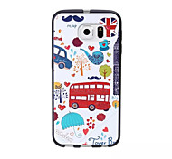 Special Design New Tide Faction Cartoon Super-soft Leather Material Phone Case for Samsung Galaxy S6 edge