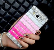For Samsung Galaxy Case Rhinestone Case Back Cover Case Color Gradient PC Samsung A8 / A7 / A5 / A3