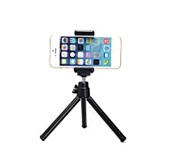 Aluminum Alloy Mini Black Tripod with Mobile Phone Clip