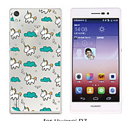 MAYCARI®The Unicorn's Traveling in the Sky Soft Transparent TPU Back Case for Huawei P7/P8