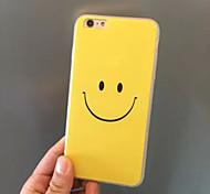 sorriso emoção acrílico amarelo material TPU 2 em caso da tampa 1 volta para 6s iphone plus / 6 mais
