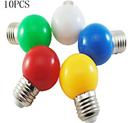 10PCS MORSEN® LED Light Bulb Color E27  1W Small Light Bulb Outdoor Decorative Colorful Lighting Christmas Lights