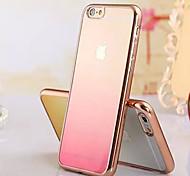 caso cambiar teléfono ultra suave célula de recubrimiento de material TPU transparente gradual para el iphone 6plus / 6s más (colores