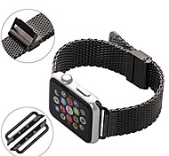 Stainless Steel Classic Buckle Watch Strap For Apple Watch iWatch Replacement Band with Metal Adapter