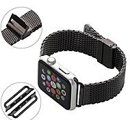pulseira de relógio clássico fivela de aço inoxidável para o relógio Apple banda de substituição iWatch com adaptador de metal
