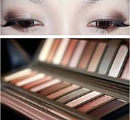 12 Sombra de Ojos Mate / Brillo Paleta de sombra de ojos Others Normal
